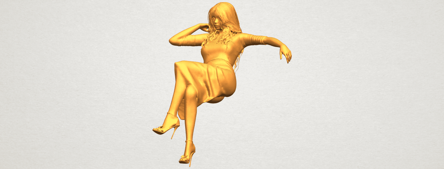 A01.png Download free STL file Naked Girl I01 • 3D print object, GeorgesNikkei