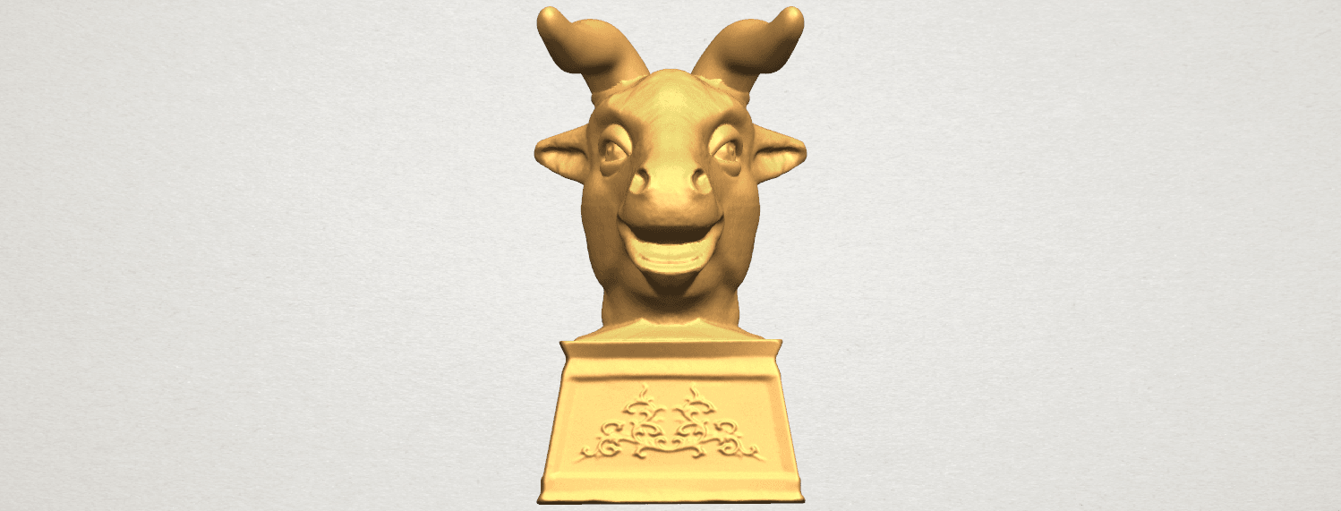 TDA0509 Chinese Horoscope of Bull 02 A01.png Download free STL file Chinese Horoscope of Bull 02 • 3D printing design, GeorgesNikkei