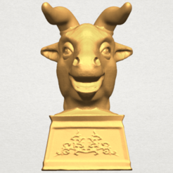 Free 3d printer designs Chinese Horoscope of Bull 02, GeorgesNikkei