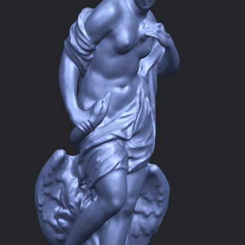25_TDA0173_Naked_Girl_with_Goose_88mmA10.png Download free STL file Naked Girl with Goose • 3D print template, GeorgesNikkei