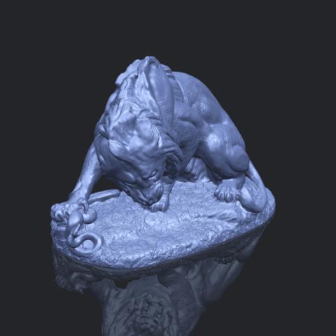 16_Lion_(iii)_with_snake_60mm-B00-1.png Télécharger fichier STL gratuit Lion 03 - avec serpent • Modèle imprimable en 3D, GeorgesNikkei