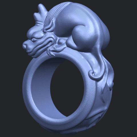 07_TDA0504_Pi_Xiu_RingB02.png Télécharger fichier STL gratuit Bague Pi Xiu Ring • Modèle à imprimer en 3D, GeorgesNikkei