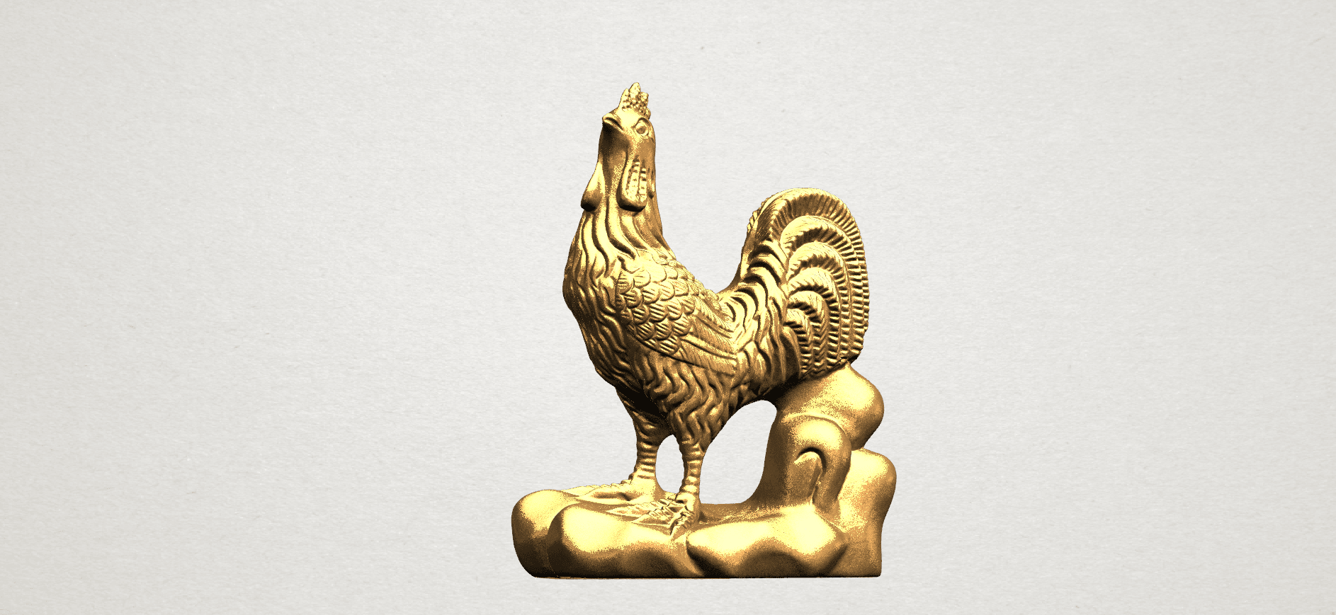 TDA0051j Chinese Horoscope10-B01.png Download free STL file Chinese Horoscope 10 Chicken - TOP MODEL • 3D printable design, GeorgesNikkei
