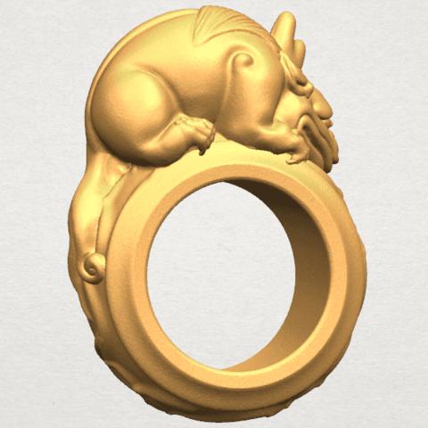 TDA0504 Pi Xiu Ring A04.png Télécharger fichier STL gratuit Bague Pi Xiu Ring • Modèle à imprimer en 3D, GeorgesNikkei