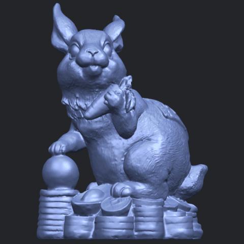 07_TDA0559_Rabbit_02B01.png Télécharger fichier STL gratuit Lapin 02 • Design imprimable en 3D, GeorgesNikkei