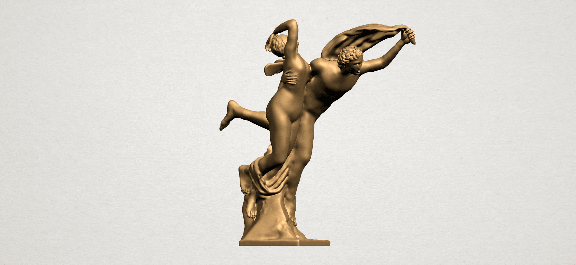 Cupid and Psyche - A08.png Download free STL file Cupid and Psyche • 3D printing template, GeorgesNikkei