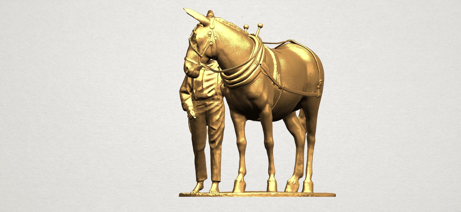 Horse with Man (i) - A02.png Télécharger fichier STL gratuit Cheval avec Man 01 • Objet à imprimer en 3D, GeorgesNikkei