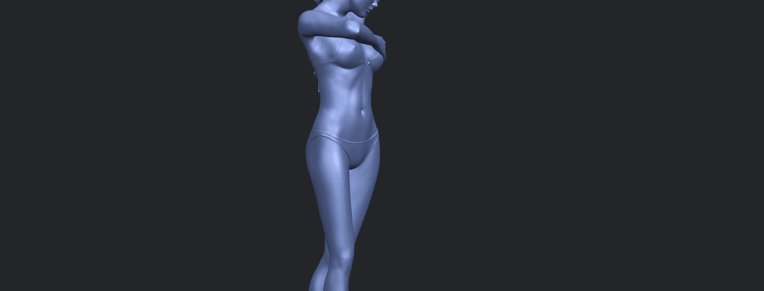 16_TDA0633_Naked_Girl_D03-A10.png Download free STL file Naked Girl D03 • 3D printing template, GeorgesNikkei