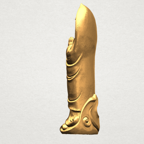 Gautama Buddha Standing (iv) A04.png Download free STL file Gautama Buddha Standing 04 • 3D printable design, GeorgesNikkei