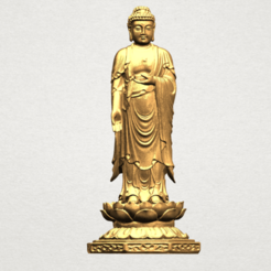 Download free 3D printer templates Gautama Buddha Standing 03, GeorgesNikkei