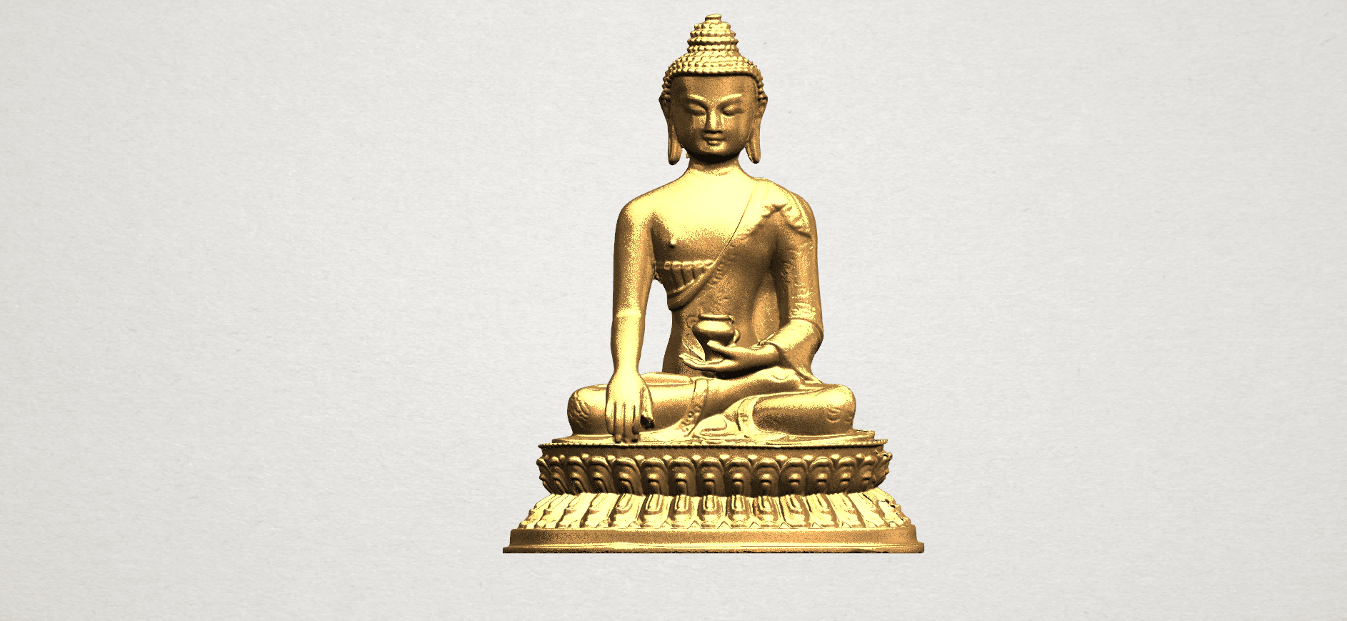 Thai Buddha (iii) A01.png Download free STL file Thai Buddha 03 • 3D printing object, GeorgesNikkei