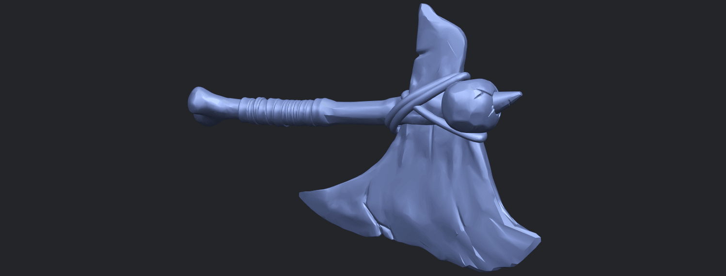 30_TDA0541_Pirate_AxeB07.png Download free STL file Pirate Axe • 3D printer template, GeorgesNikkei