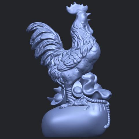 08_TDA0321_CockB07.png Télécharger fichier STL gratuit Coq 01 • Design pour impression 3D, GeorgesNikkei