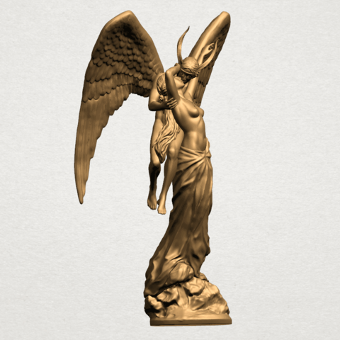 Angel and devil - B01.png Download free 3DS file Angel and devil • 3D print template, GeorgesNikkei