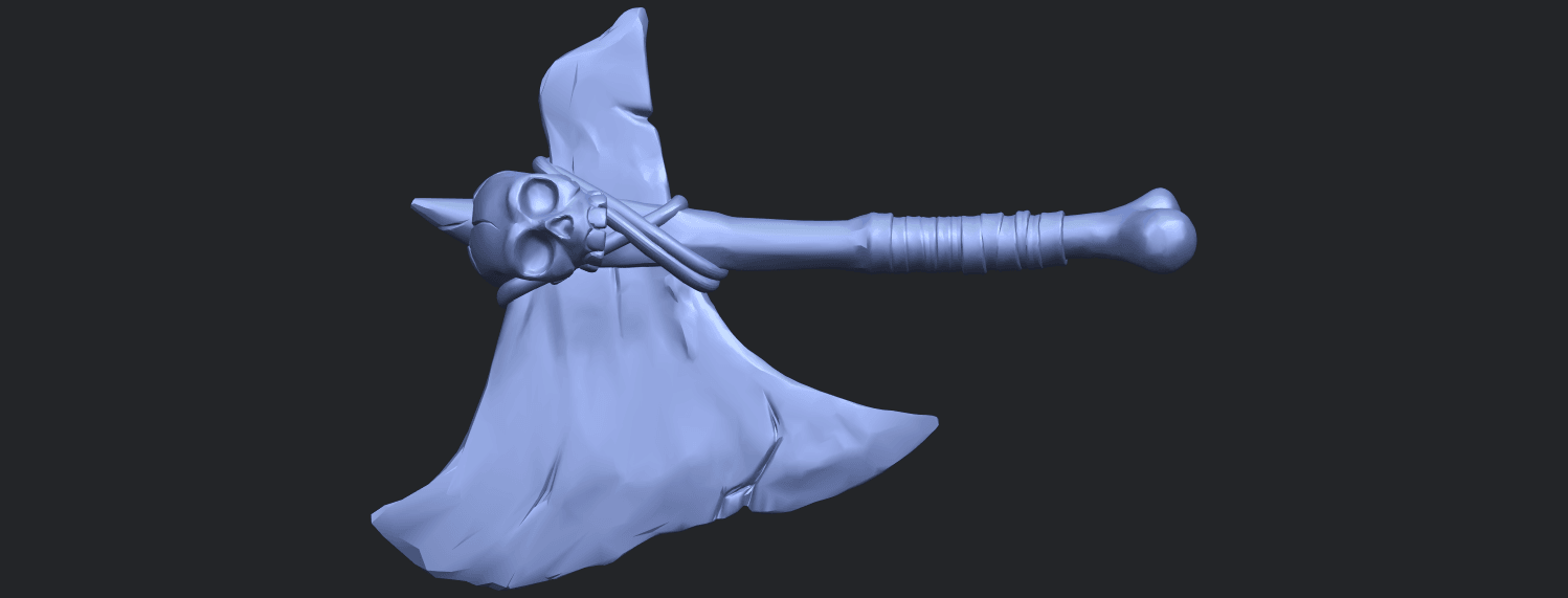 30_TDA0541_Pirate_AxeB01.png Download free STL file Pirate Axe • 3D printer template, GeorgesNikkei