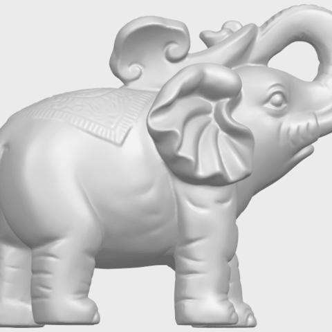 09_Elephant_02_150mmA09.png Télécharger fichier STL gratuit Eléphant 02 • Plan imprimable en 3D, GeorgesNikkei