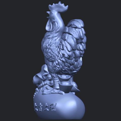 08_TDA0321_CockB03.png Télécharger fichier STL gratuit Coq 01 • Design pour impression 3D, GeorgesNikkei