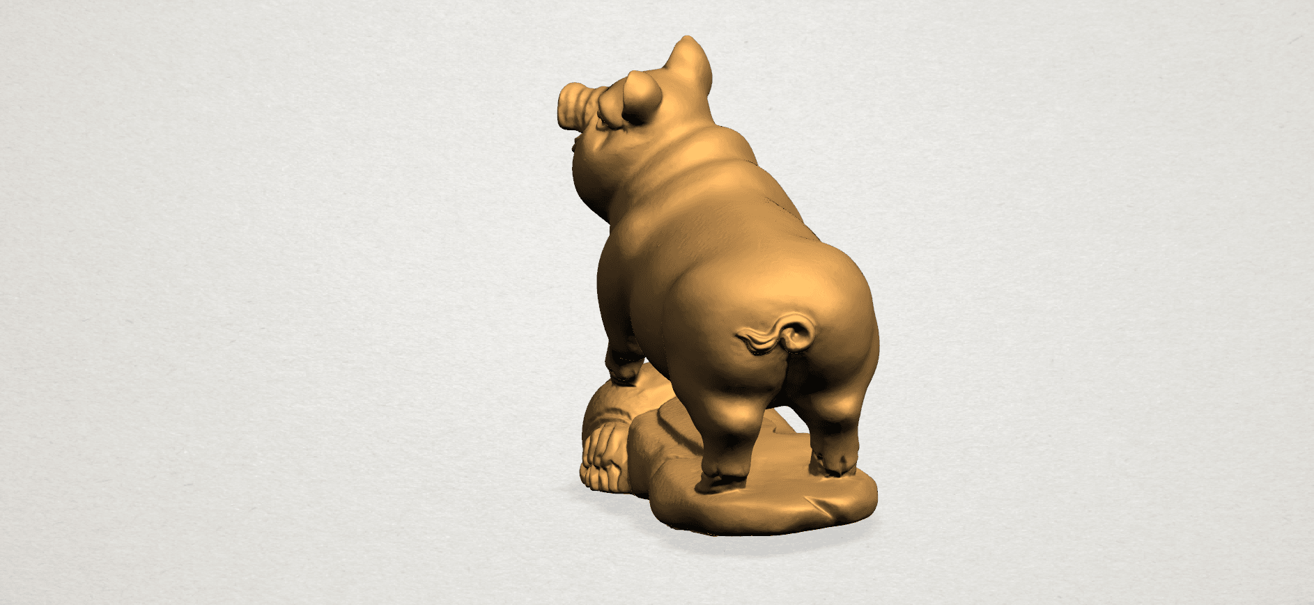 Chinese Horoscope12-A03.png Download free STL file Chinese Horoscope 12 pig • Model to 3D print, GeorgesNikkei
