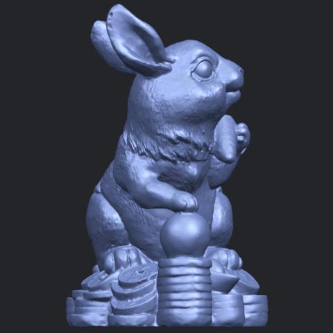07_TDA0559_Rabbit_02B09.png Télécharger fichier STL gratuit Lapin 02 • Design imprimable en 3D, GeorgesNikkei