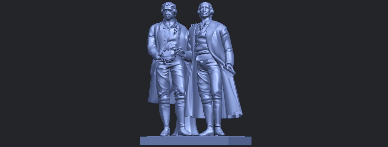 15_Goethe_schiller_80mmB02.png Télécharger fichier STL gratuit Goethe Schiller • Modèle imprimable en 3D, GeorgesNikkei