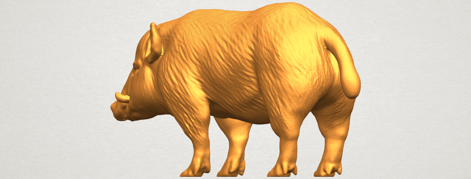 TDA0320 Pig (ii) A02.png Download free STL file Pig 02 • 3D printable object, GeorgesNikkei