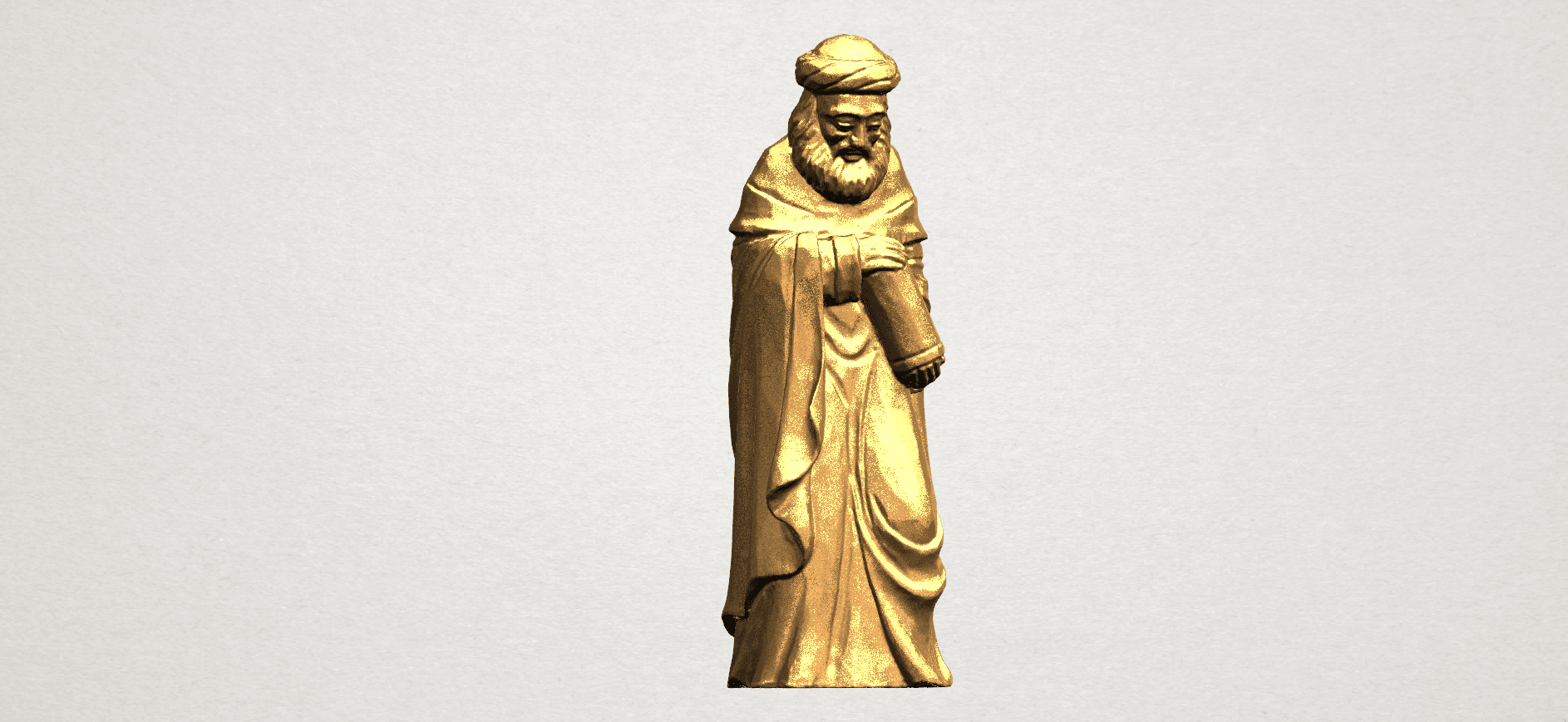 Sculpture of Arabian 88mm - A07.png Download free STL file Sculpture of Arabian • 3D print template, GeorgesNikkei