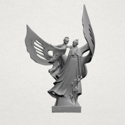 Free 3D print files Angel in couple, GeorgesNikkei