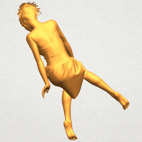 A05.png Download free STL file Naked Girl E06 • 3D printer object, GeorgesNikkei