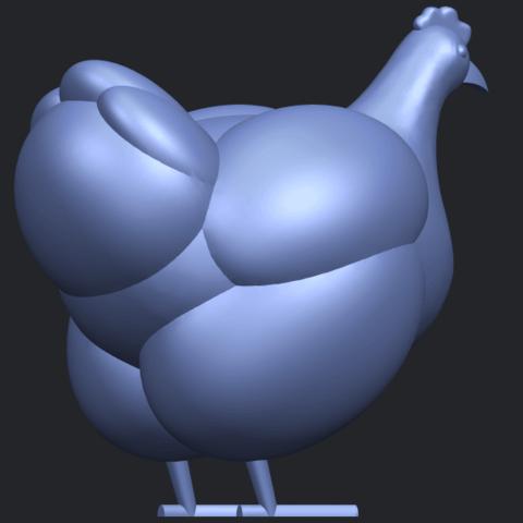 17_TDA0484_HenB08.png Télécharger fichier STL gratuit Poule • Design pour imprimante 3D, GeorgesNikkei