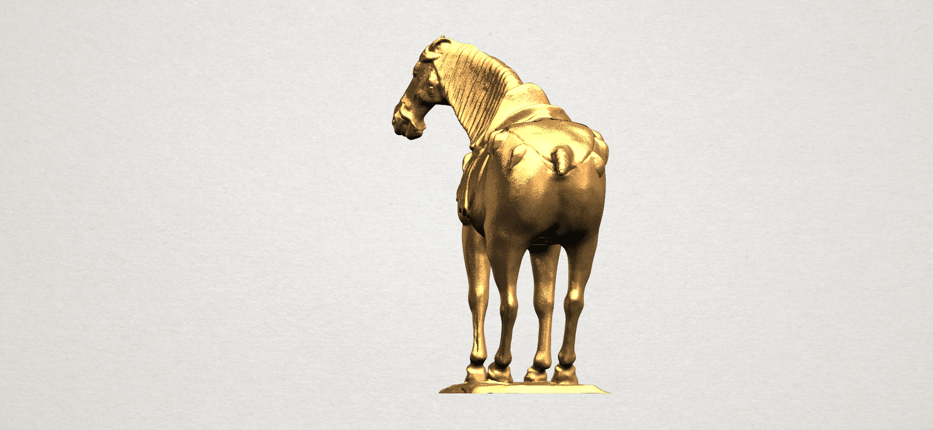 Horse (iv) A03.png Download free STL file Horse 04 • 3D print design, GeorgesNikkei