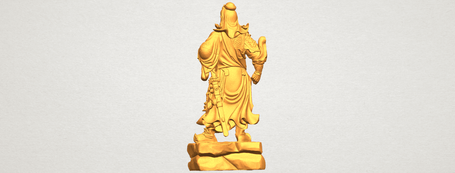 TDA0330 Guan Gong (iii) A04.png Download free STL file Guan Gong 03 • 3D printable template, GeorgesNikkei