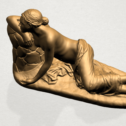 Naked Girl - Lying on Side - A12.png Download free STL file Naked Girl - Lying on Side • 3D printer template, GeorgesNikkei