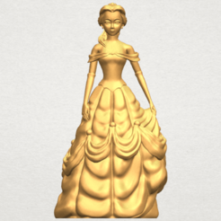 Free STL files Princess Belle, GeorgesNikkei
