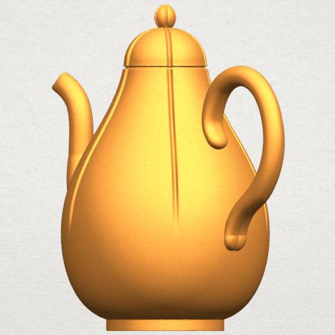 TDA0323 Tea Pot (ii) A07.png Download free STL file Tea Pot 02 • 3D printer template, GeorgesNikkei