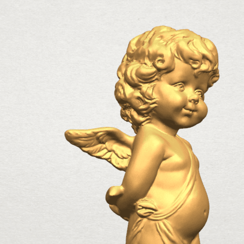 TDA0478 Angel Baby 01 A07.png Download free STL file Angel Baby 01 • 3D print template, GeorgesNikkei