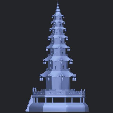 03_TDA0623_Chiness_pagodaB04.png Download free STL file Chiness pagoda • Design to 3D print, GeorgesNikkei