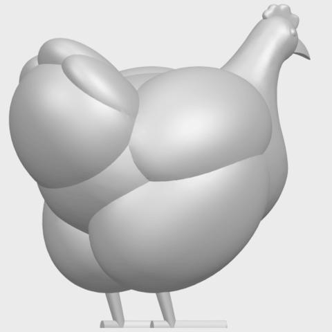 17_TDA0484_HenA08.png Télécharger fichier STL gratuit Poule • Design pour imprimante 3D, GeorgesNikkei