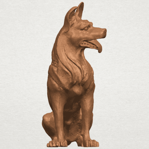 TDA0307 Dog - Wolfhound A08.png Download free STL file Dog - Wolfhound • 3D printer model, GeorgesNikkei