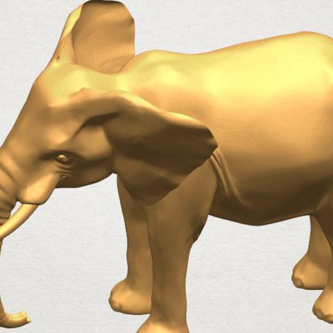 TDA0592 Elephant 07 A09.png Télécharger fichier STL gratuit Eléphant 07 • Objet à imprimer en 3D, GeorgesNikkei