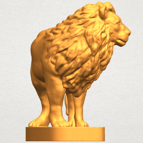 TDA0313 Lion (iii) A05.png Download free STL file Lion 03 • 3D printable template, GeorgesNikkei