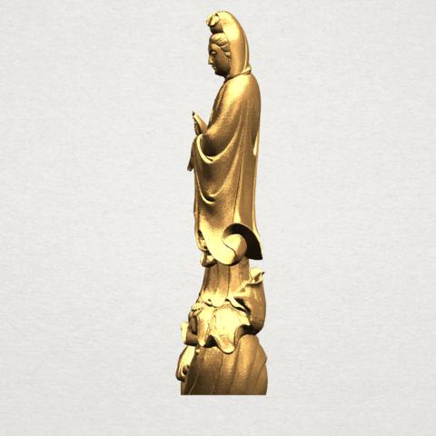 Avalokitesvara Buddha - Standing (i) A03.png Download free STL file Avalokitesvara Bodhisattva - Standing 01 • 3D printable design, GeorgesNikkei