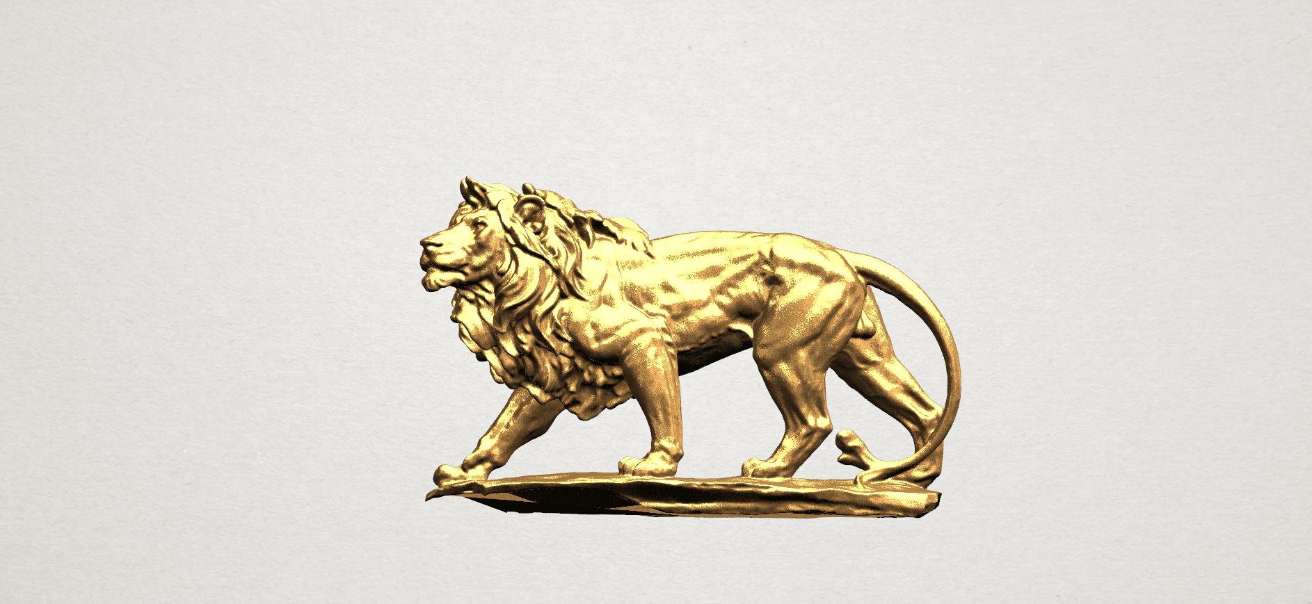 Lion (ii) -50mm-B01.png Télécharger fichier STL gratuit Lion 02 • Design pour impression 3D, GeorgesNikkei
