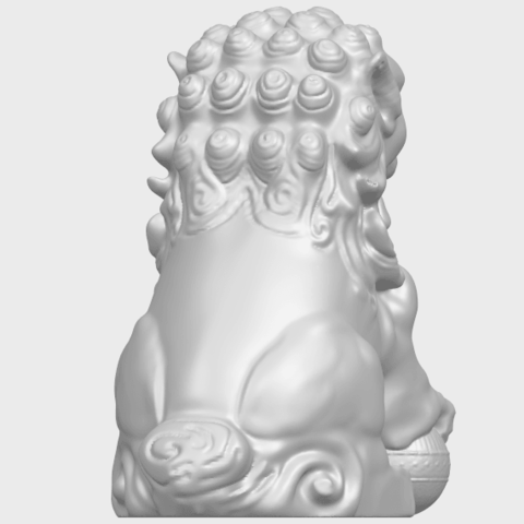 04_TDA0500_Chinese_LionA07.png Download free STL file Chinese Lion • 3D printing object, GeorgesNikkei