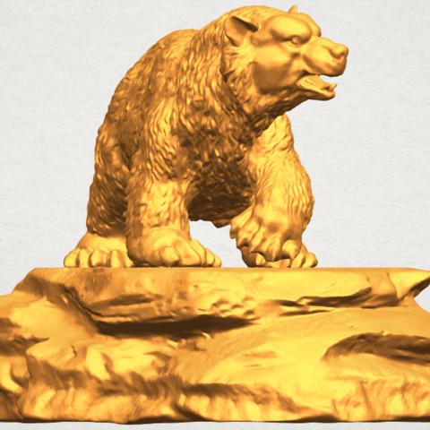 A08.png Télécharger fichier STL gratuit Ours 01 • Plan imprimable en 3D, GeorgesNikkei