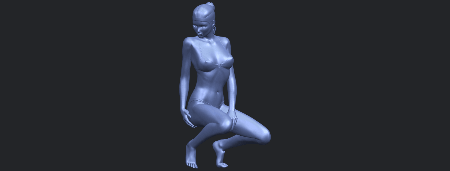 15_TDA0634_Naked_Girl_D04B01.png Download free STL file Naked Girl D04 • 3D printable template, GeorgesNikkei