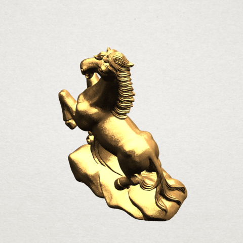 Chinese Horoscope07-01.png Télécharger fichier STL gratuit Horoscope Chinois 07 Cheval Chinois • Design imprimable en 3D, GeorgesNikkei