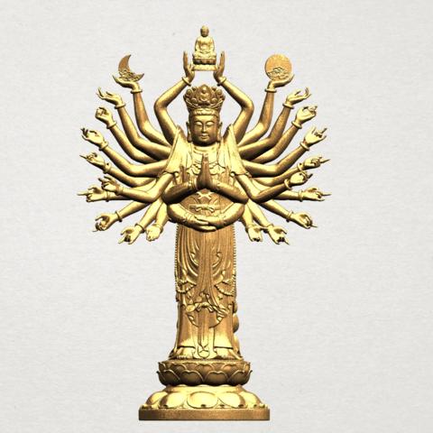 Avalokitesvara Bodhisattva (multi hand) 80mm -B01.png Download free STL file Avalokitesvara Bodhisattva (multi hand) (i) • 3D print object, GeorgesNikkei