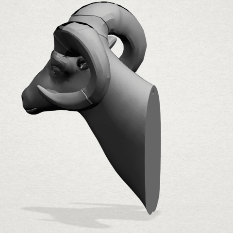 Goat - A02.png Télécharger fichier STL gratuit Chèvre 01 • Design pour impression 3D, GeorgesNikkei