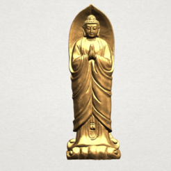 Free 3D printer files Gautama Buddha Standing 04, GeorgesNikkei