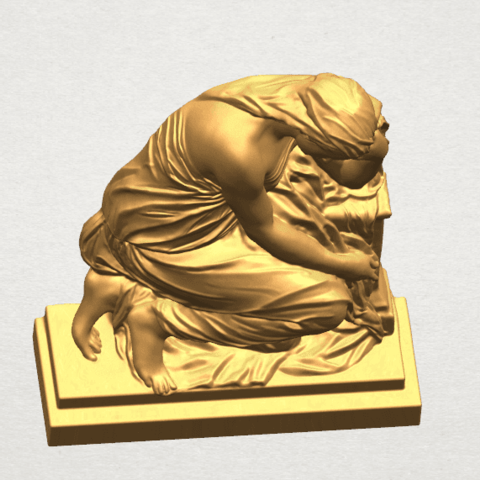 TDA0548 Sculpture of a girl 02 A06.png Download free STL file Sculpture of a girl 02 • 3D printable template, GeorgesNikkei